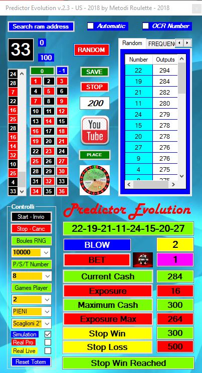 Roulette random predictor bot 2019