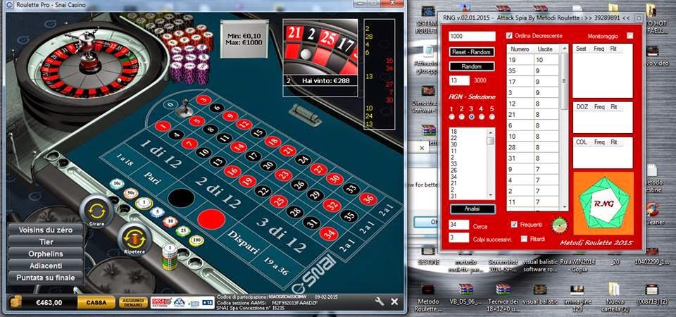Roulette on line sistemi